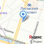 Эсти на карте Санкт-Петербурга