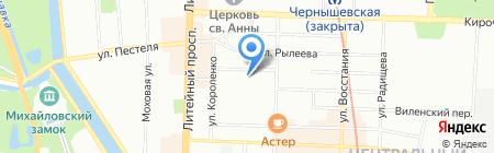 Интурбюро на карте Санкт-Петербурга
