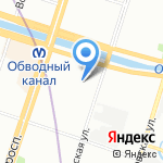 Планета Садовод на карте Санкт-Петербурга