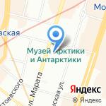 Гнёздышко на карте Санкт-Петербурга