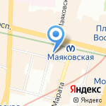 Стаффорд на карте Санкт-Петербурга