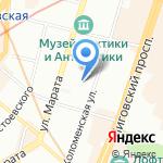 Комната на карте Санкт-Петербурга
