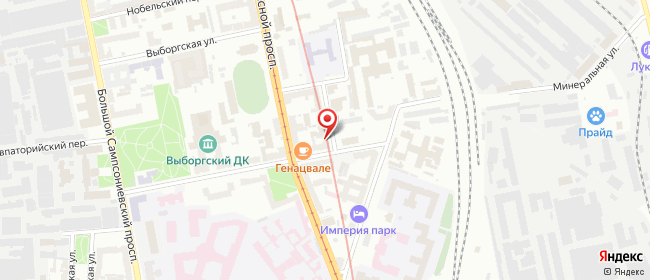 Карта расположения пункта доставки Площадь Ленина в городе Санкт-Петербург