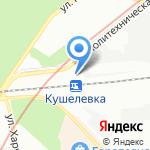 Кушелевка на карте Санкт-Петербурга