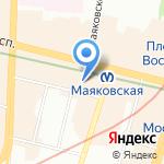 На Стремянной на карте Санкт-Петербурга