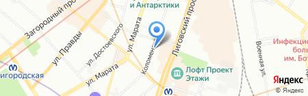 Прэсто на карте Санкт-Петербурга