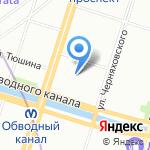 Крестовоздвиженский казачий собор на карте Санкт-Петербурга