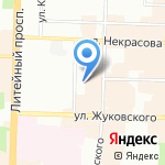 Новадент на карте Санкт-Петербурга