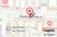 Схема проезда до компании Вираж-5 в Санкт-Петербурге