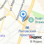 Адвокатская консультация №12 на карте Санкт-Петербурга