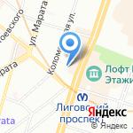 Аллан на карте Санкт-Петербурга