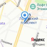 Smiley на карте Санкт-Петербурга