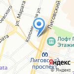 Петербургтеплоэнерго на карте Санкт-Петербурга