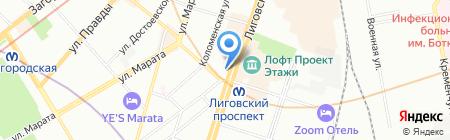 Мой мясной на карте Санкт-Петербурга