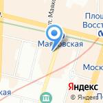 Финский Сервисный Визовый Центр на карте Санкт-Петербурга