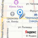 Интурион на карте Санкт-Петербурга