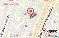 Схема проезда до компании Благодарение в Санкт-Петербурге