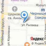 Регистр на карте Санкт-Петербурга