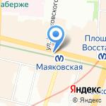 Nevsky Forum на карте Санкт-Петербурга