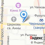 Дом Цветов на карте Санкт-Петербурга