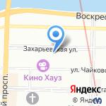 Мебель салона на карте Санкт-Петербурга