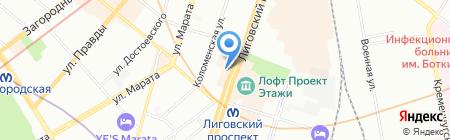 ДеКанто на карте Санкт-Петербурга