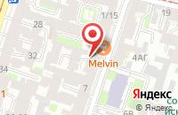 Схема проезда до компании Скиния в Санкт-Петербурге