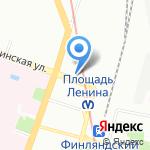 Эй на карте Санкт-Петербурга