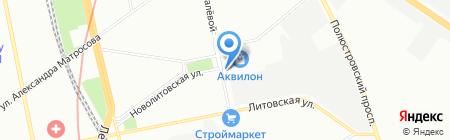 Автостоянка на ул. Грибалёвой на карте Санкт-Петербурга