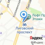 Ареал на карте Санкт-Петербурга