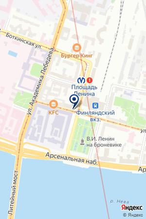 СТРОИТЕЛЬНАЯ ФИРМА ДИАМАНТ на карте Санкт-Петербурга