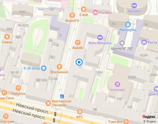 Управляющая компания «СНВ-Сервис+» на карте Санкт-Петербурга