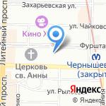 Джемини на карте Санкт-Петербурга