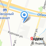 Межрегиональная общественно-государственная Служба Спасения Центр-СПАС на карте Санкт-Петербурга