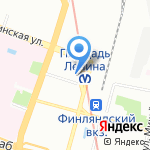 Сеть оптово-розничных магазинов цветов на карте Санкт-Петербурга