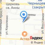 Гнездо на карте Санкт-Петербурга