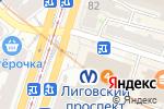 Схема проезда до компании Nova в Санкт-Петербурге