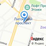 Koyo на карте Санкт-Петербурга