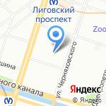 Всероссийский НИИ жиров на карте Санкт-Петербурга