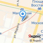 Барбарис на карте Санкт-Петербурга