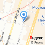 Южный двор на карте Санкт-Петербурга