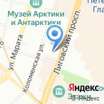 Фишка на карте Санкт-Петербурга