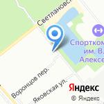 Интерлес на карте Санкт-Петербурга