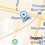 Миграционный защитник на карте Санкт-Петербурга