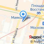 Дом с котом на карте Санкт-Петербурга