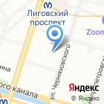 Эвольвента на карте Санкт-Петербурга