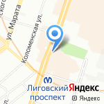 Все что нужно 37 на карте Санкт-Петербурга