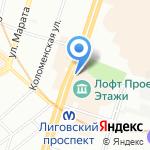 Август ван дер Вальс на карте Санкт-Петербурга