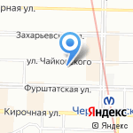 Кинза на карте Санкт-Петербурга