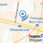 Невский 100 на карте Санкт-Петербурга